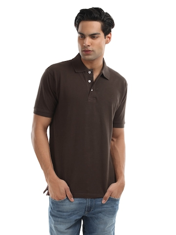 Proline Men Coffee Brown Pique Polo T-shirt