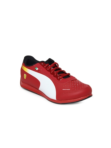Puma Kids Unisex Red evoSpeed Lo Ferrari Jr Casual Shoes