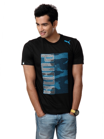 Puma Men Black T-shirt