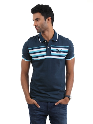 Puma Men Blue T-shirt