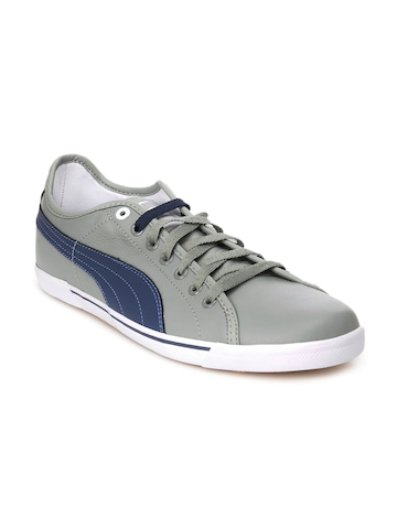 Puma Men Benecio Leather Grey Shoes