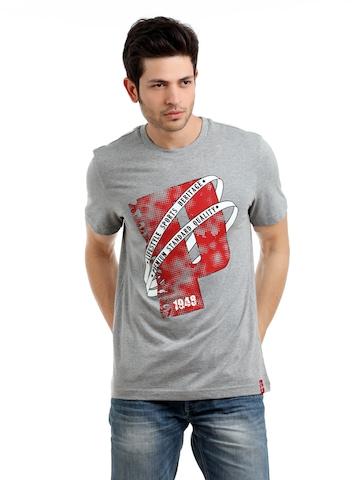 Puma Men Grey T-shirt