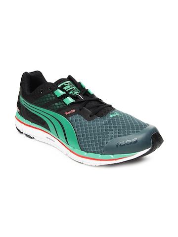 Puma Men Green & Black Faas 500 v3 Running Shoes
