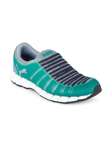 Puma Men Teal Green & Grey Osu 3 Sports Shoes