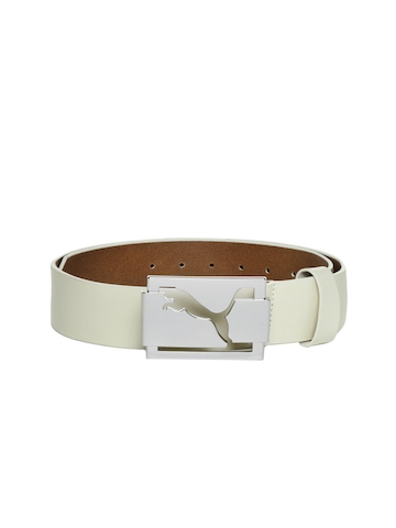 Puma Men White Belt