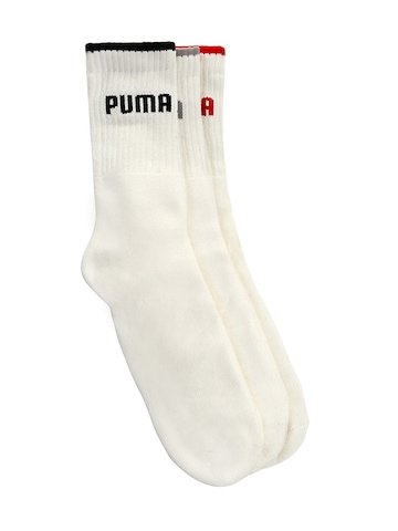 Puma Men White Pack of 3 Socks