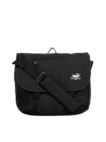 Puma Unisex Black Foundation Shoulder Bag