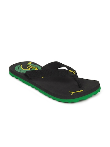 Puma Unisex Wave Black Flip Flops
