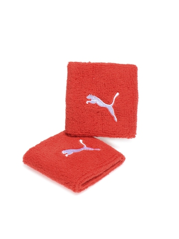 Puma Unisex Pack of 2 Red Wristband