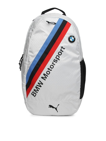 puma unisex white bmw motorsport backpack available at. Black Bedroom Furniture Sets. Home Design Ideas