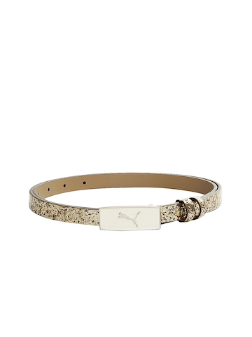 Puma Women Gold Toned Shimmery Belt at myntra