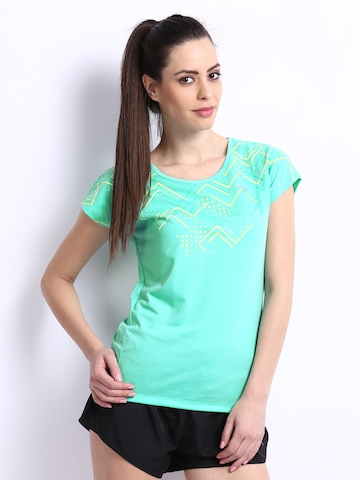 Puma Women Green Studio Printed T-shirt
