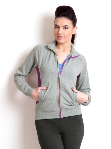 Puma Women Grey Melange Sweatshirt