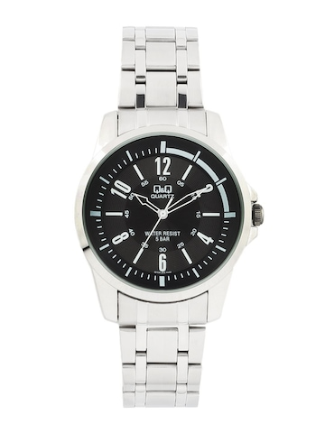 Q&Q Men Black Dial Analogue Watch Q708J205Y