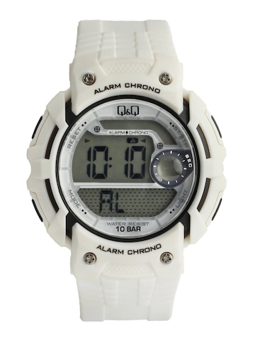 Q&Q Men White Digital Watch