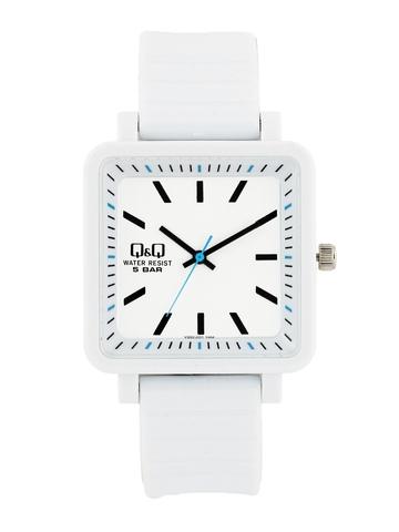 Q&Q Unisex White Analog Dial Watches