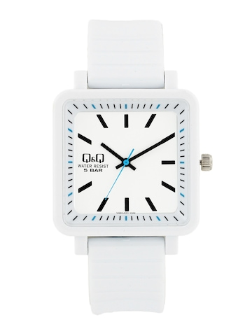 Q&Q Unisex White Analog Dial Watches