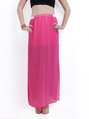 buy ridress pink maxi skirt 304 apparel for 350589