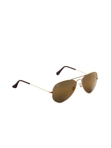 Ray-Ban Men Aviator Gold Sunglasses