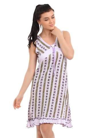 Red Rose Women Lavender Nightdress