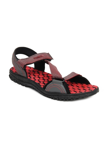 Reebok Men Grey & Red Coalition Sports Sandals