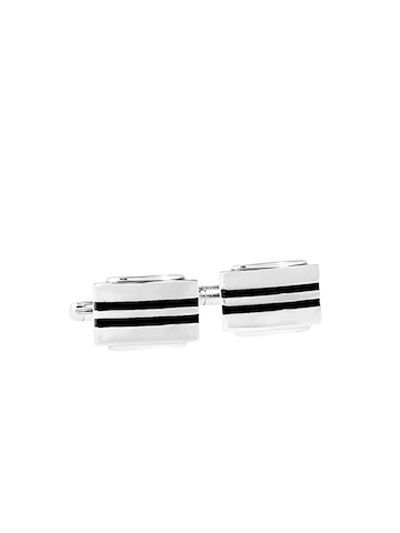 Revv Men Black and Steel Cufflinks
