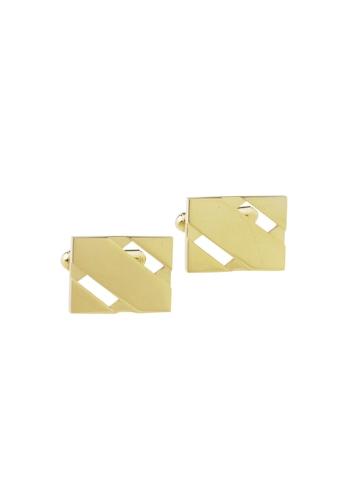 Revv Men Golden Coloured Cufflinks