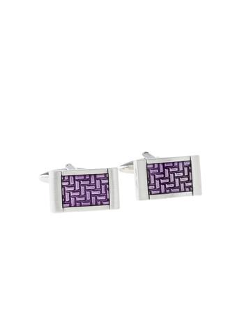 Revv Men Purple Cufflinks