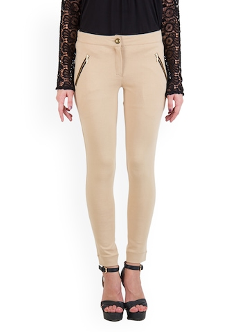 Rider Republic Women Beige Jeggings at myntra