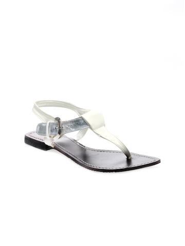 Rocia Women White & Silver Sandals