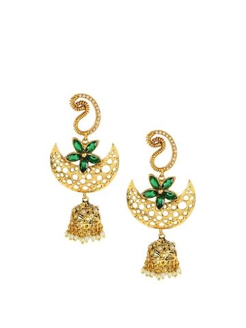 Royal Diadem Golden Earrings