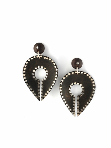 Rreverie Dark Brown Earrings