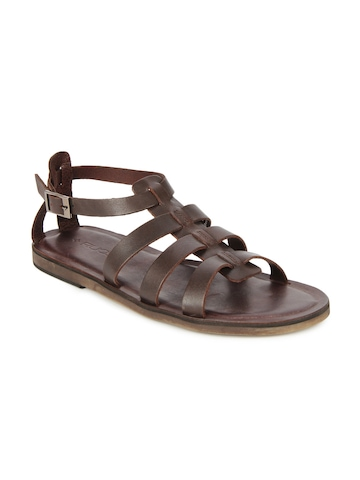 Ruosh Men Brown Leather Sandals at myntra