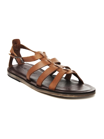 Ruosh Men Tan Leather Sandals at myntra