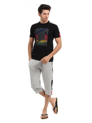 SDL by Sweet Dreams Men Black & Grey Pyjama Set