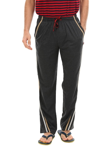 SDL by Sweet Dreams Men Charcoal Lounge Pants