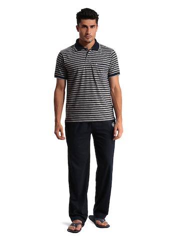 SDL by Sweet Dreams Men Navy Blue Pyjama Set