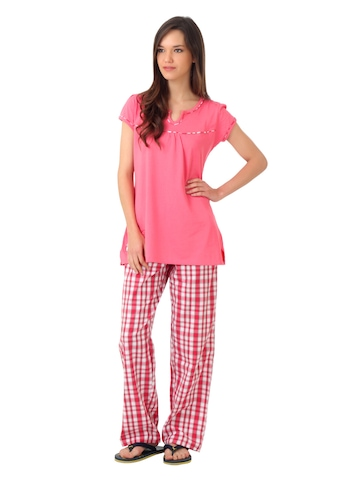 SDL by Sweet Dreams Pink Pyjama Set