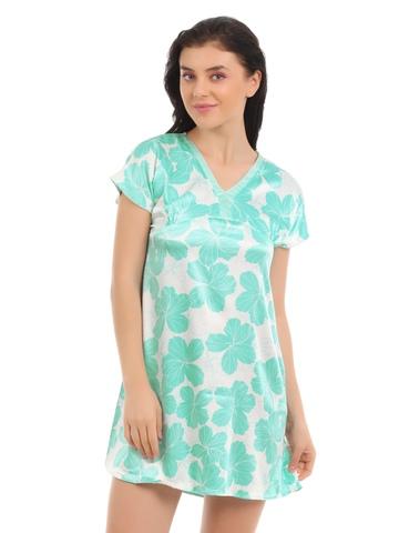 SDL by Sweet Dreams Women Green Nightdress