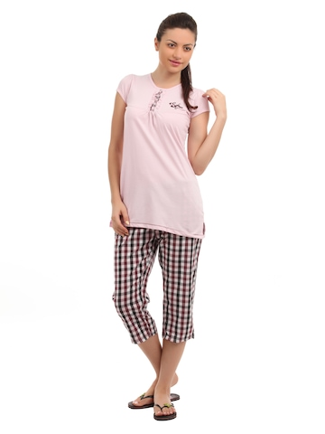 SDL by Sweet Dreams Women Pink Night suits