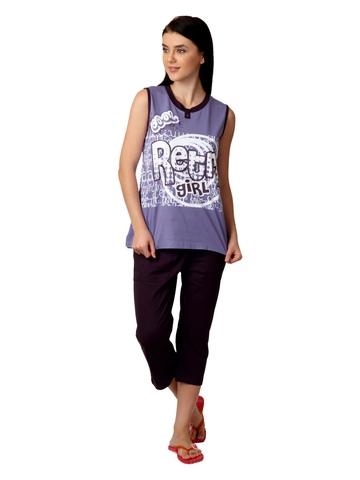 SDL by Sweet Dreams Women Purple Printed Night Suit S11-3127