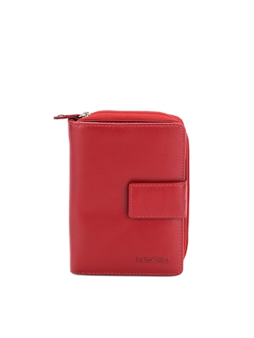 Samsonite Women Red Zip Round Wallet