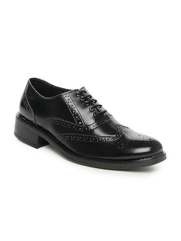 San Frissco Men Black Formal Shoes at myntra