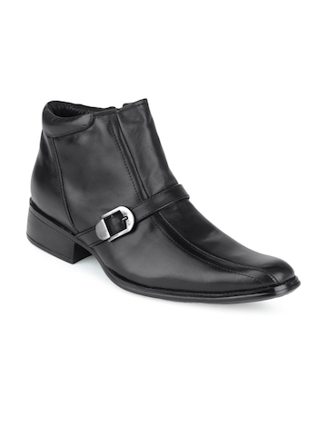 San Frissco Men Black Leather Boots
