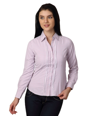 Scullers for Her Women White Check Shirt