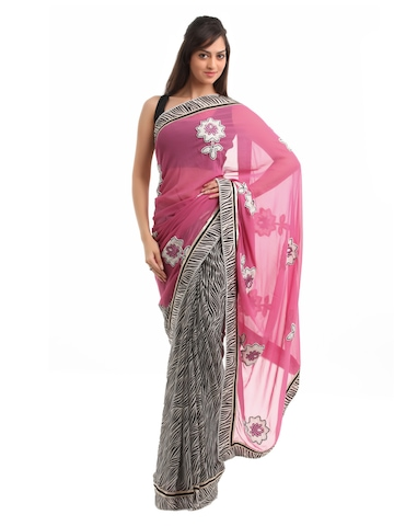Seymore Pink Saree