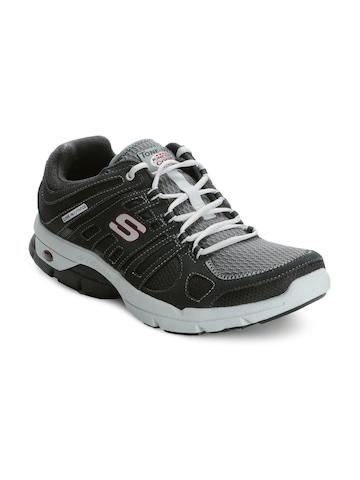 Skechers Men Charcoal Sports Shoes