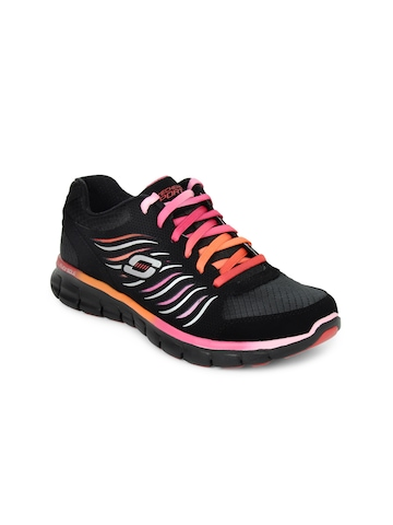 Skechers Women Synergy Black Sports Shoes