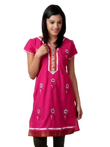 Souchi Women Pink Kurta