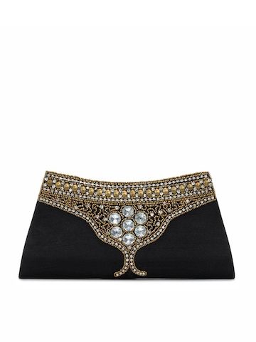 Spice Art Women Antique Design Black Clutch